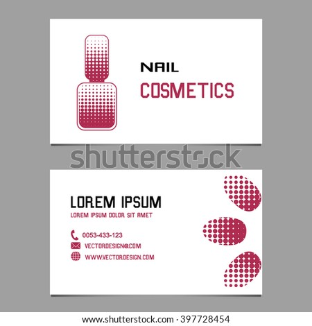 Design business cards logo company manicure stock vector royalty design business cards and logo of the company for manicure nail cosmetics and nail colourmoves