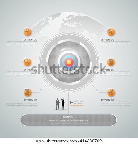 Design business concept infographic, can be used for workflow layout, diagram, number options, graphic or website layout. - stock vector