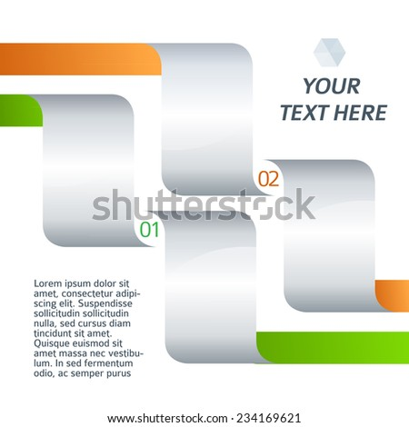 Design business presentation template. Vector illustration for technology infographics / number banners / charts and graphs or powerpoint background/ graphs and tables. EPS 10  - stock vector