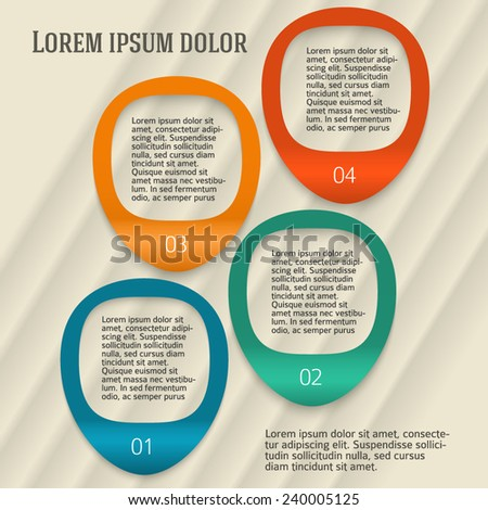 Design business presentation template. Vector illustration for technology infographics, number banners, charts and graphs or powerpoint background/ graphs and tables. EPS 10