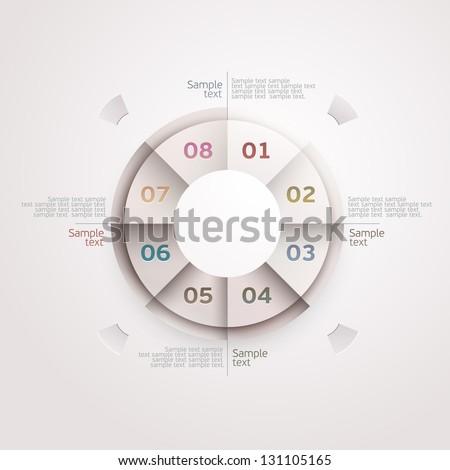 Design circle. - stock vector