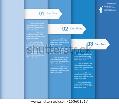 Design Clean Number Banners Templategraphic Website Stock Vector