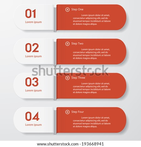 Design clean number banners template/graphic or website layout. Vector.