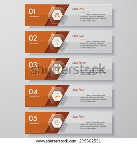 Design clean number banners template/graphic or website layout. Vector. - stock vector