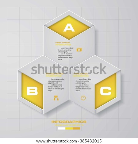 Design clean template/graphic or website layout. 3 step order diagram layout. - stock vector