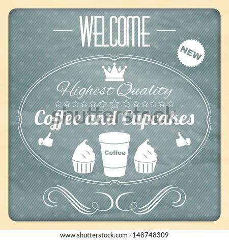 design coffee poster - stock vector