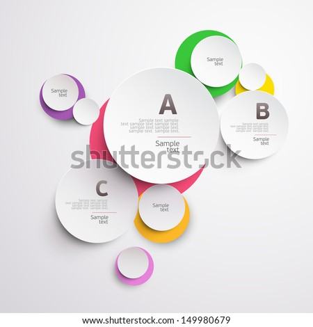Design colorful circle. - stock vector