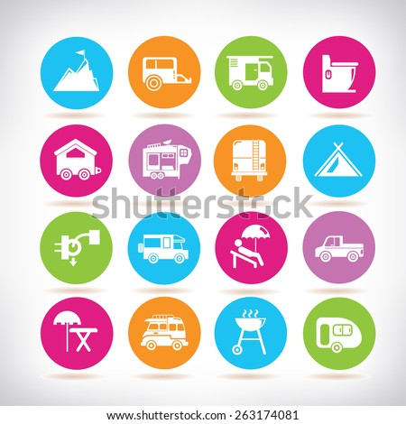 design concept, drawing tools - stock vector