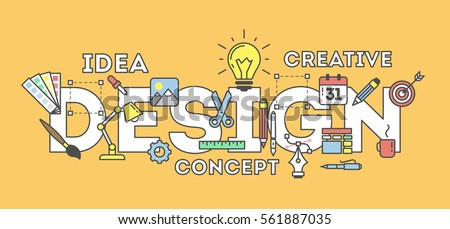 Web Design Illustration Icons Concept Creating Stock Vector ...