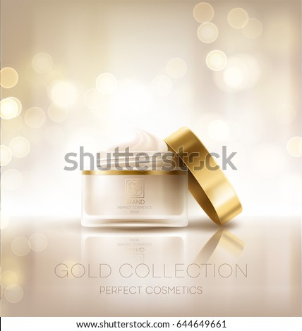 Design cosmetics product advertising. Vector illustration EPS10