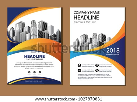 Design Cover Book Brochure Flyer Layout Stock Vector 1027870831
