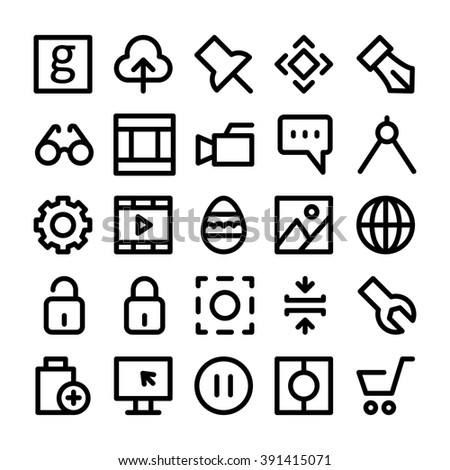 Design & Development Vector Icons 4 - stock vector