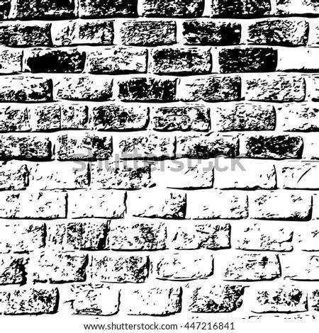 design element. Ancient brick wall texture. Vector EPS - stock vector