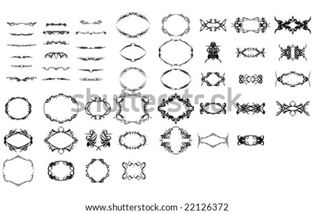 Design element and frame collection - stock vector