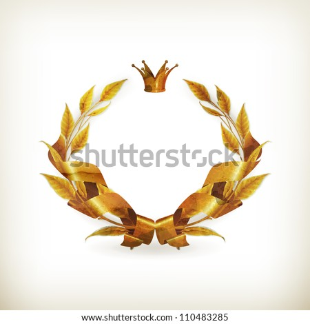 Design element emblem gold, old-style vector isolated - stock vector