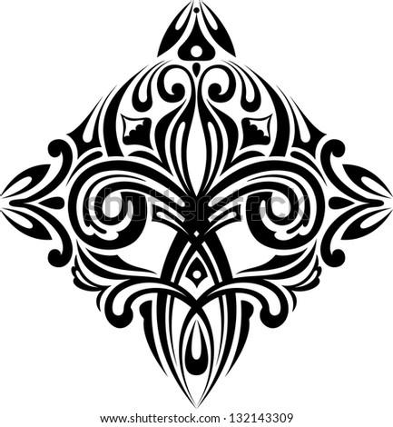 Design element, floral pattern. - stock vector