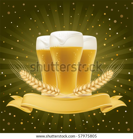 design element for beer - stock vector