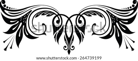 Design element, lily - stock vector