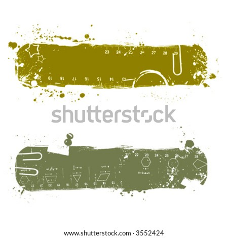 Design element, measure tool - stock vector