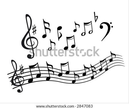 design element. music - stock vector
