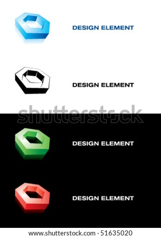 Design element. Nut - stock vector