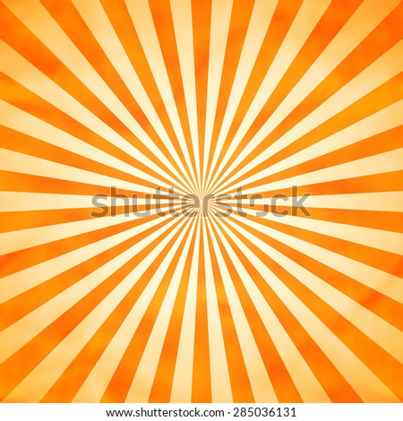 design element. Sun with rays illustration - stock vector