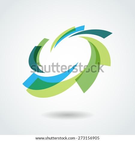 Design element. Vector circle illustration. Business logo. - stock vector