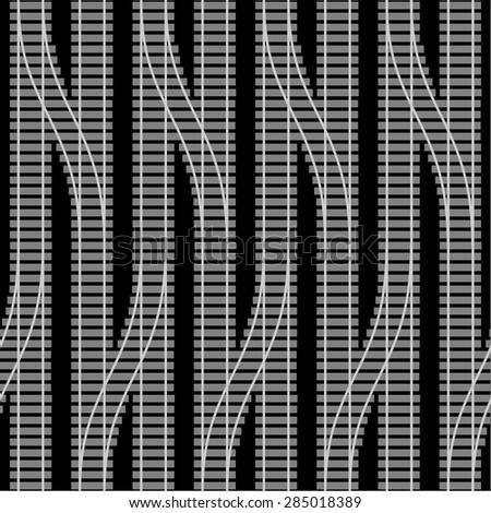 design element. vector seamless rail texture - stock vector