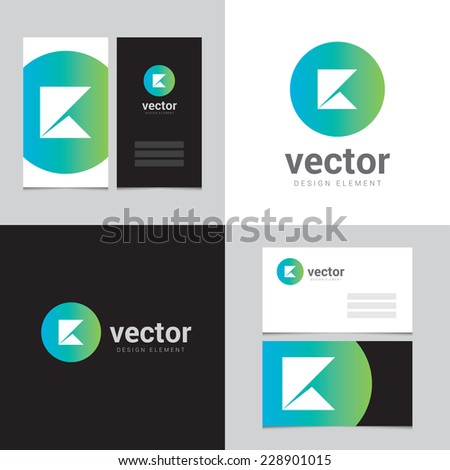 Design element with two business cards - 11 - stock vector