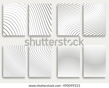 Design elements  . Abstract Vector Striped Background