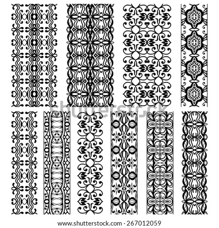 Design elements and page decoration. Vector decorative borders set