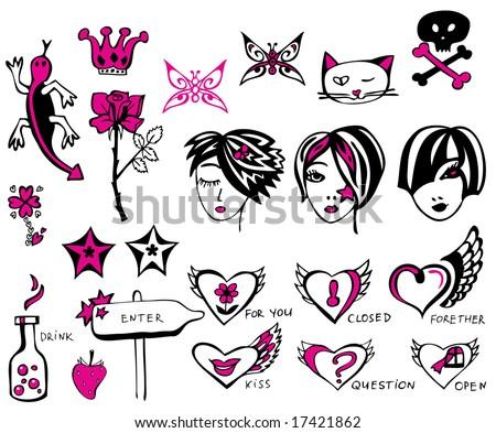 Design elements and symbols. - stock vector