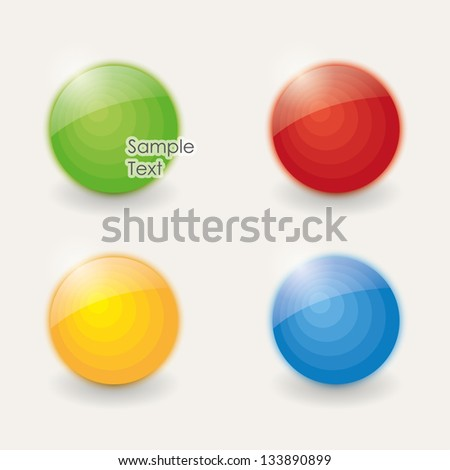 design elements. colored sphere. vector eps10