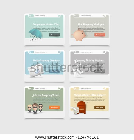 Design elements:concept icons - stock vector
