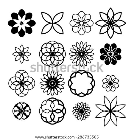 design elements - creative symbols  - stock vector