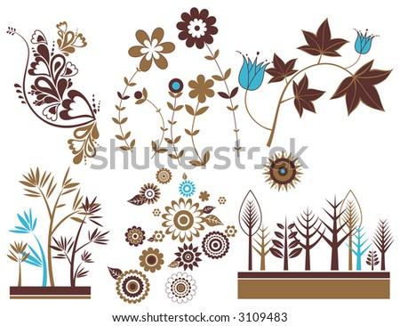 Design elements,flowers, vector illustration - stock vector
