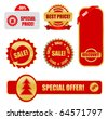 design elements for business - sale tags - stock vector
