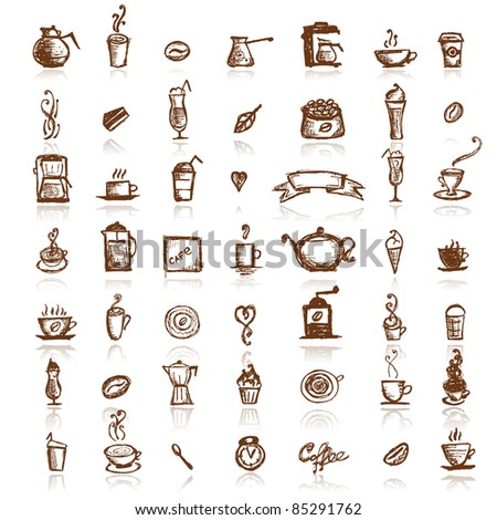 Design elements for coffee company - stock vector