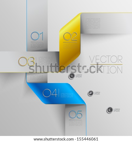 Design elements  for options - stock vector