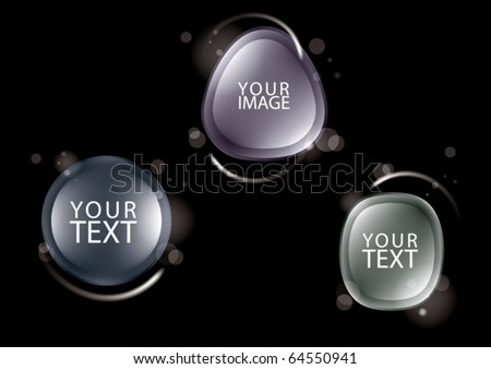 design elements for text, eps10 vector - stock vector