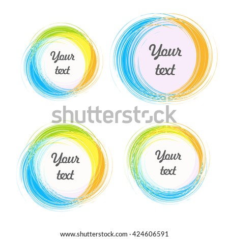 Design Elements Background Color Circular Stickers Stock Vector ...