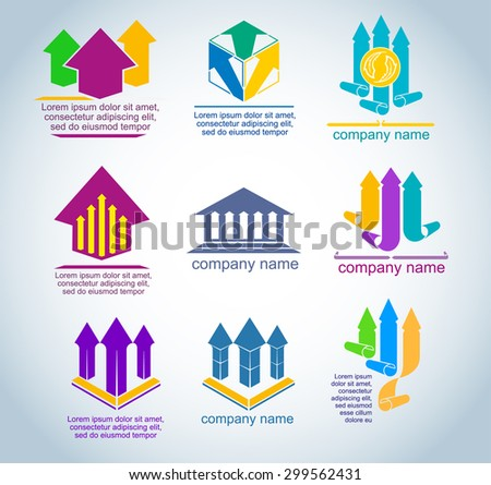 design elements for the logo - stock vector