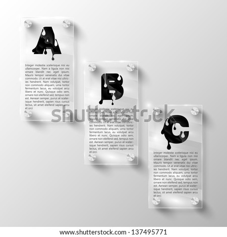 Design Elements for Web or Blog Templates - stock vector