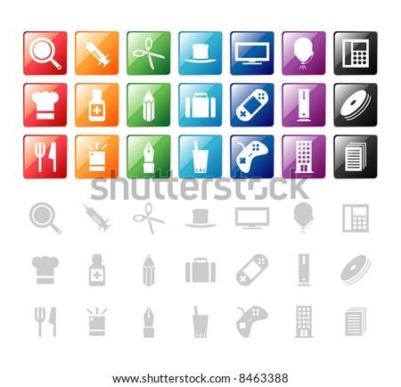 design elements / icon 2 - stock vector