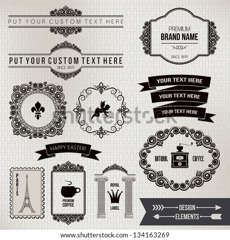 design elements part 2 - stock vector