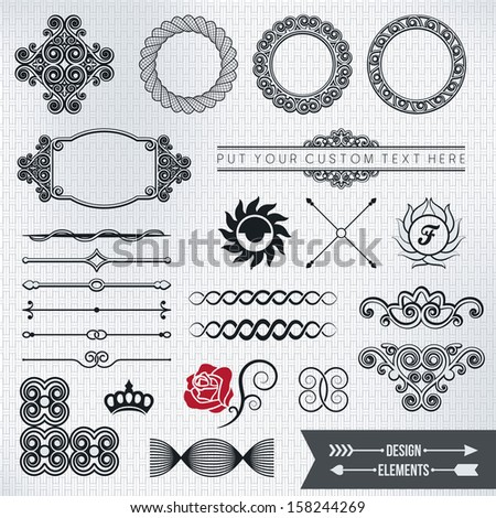 design elements part 5 - stock vector