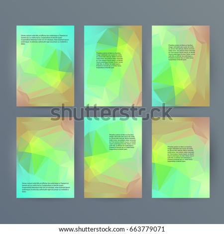 Design elements presentation template. Set vertical banners colors background, backdrop glow light effect. Vector illustration EPS 10 for web banner template, business card layout, web site element