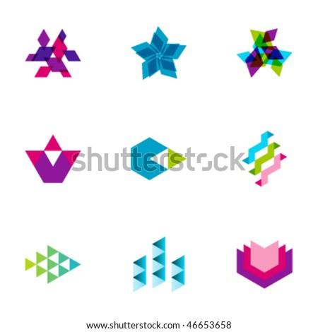 Design elements - Set 125 - stock vector