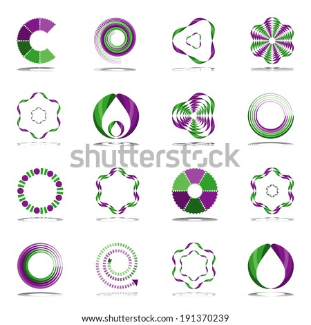 Design elements set. Abstract icons. Vector art. - stock vector