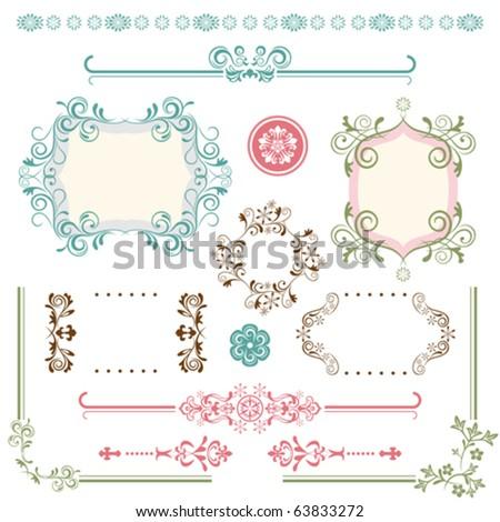 Design Elements Set. Illustration vector. - stock vector
